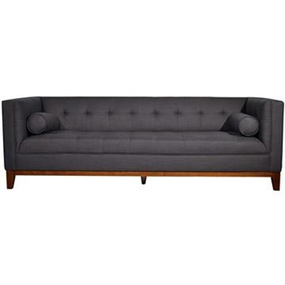 Calvin 3 Seater Fabric Sofa, Dark Grey by OTSGN Imports, a Sofas for sale on Style Sourcebook