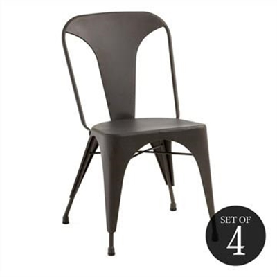Frazier Steel Indoor/Outdoor Dinning Chair, Anthracite