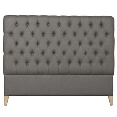 Jasper Tufted Fabric Bed Headboard, King, Cocoa