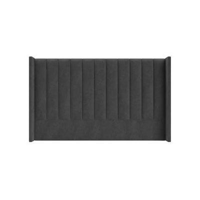 Isabella King Size Bed Head Cosmic Anthracite