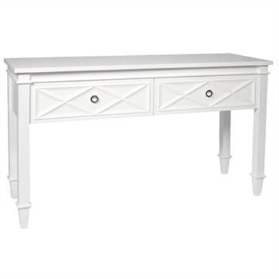 Plantation 2 Drawer Console Table, 137cm, Satin White by Cozy Lighting & Living, a Console Table for sale on Style Sourcebook
