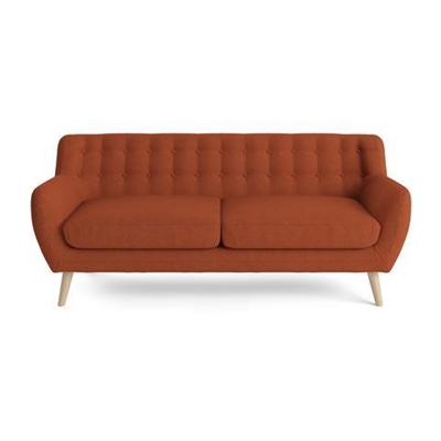 Shelly 3 Seater Sofa Burnt Orange