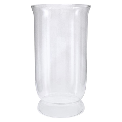 Glass Hurricane Candle Holder Clear light green Mes Homewares
