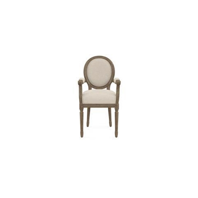 Louis Dining Chair with Armrest French Beige