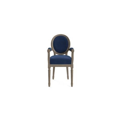 Louis Dining Chair with Armrest Ocean Blue