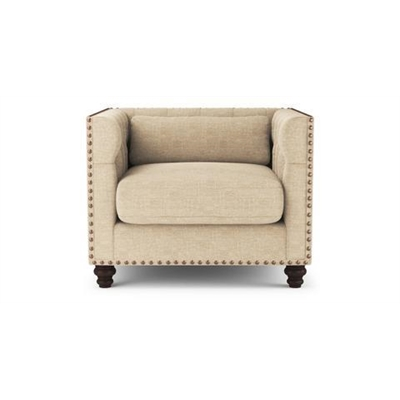 Madeline Chesterfield Armchair French Beige by Brosa, a Chairs for sale on Style Sourcebook
