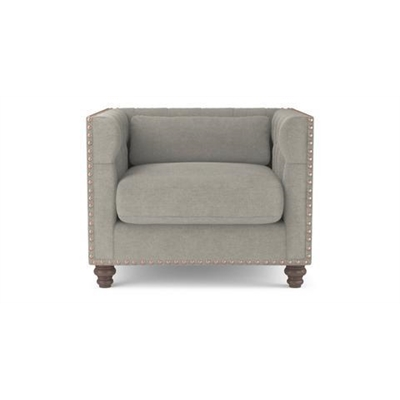 Madeline Chesterfield Armchair Stone Grey
