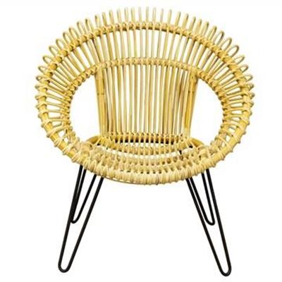 Rosaline Hand Woven Rattan Leisue Chair, Natural