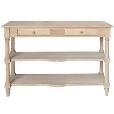 Bellina Oak Timber Console Table, 120cm, Weathered Oak