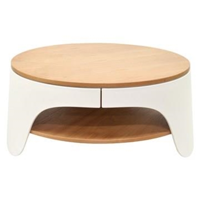 Jacca Round Coffee Table, 82cm, White