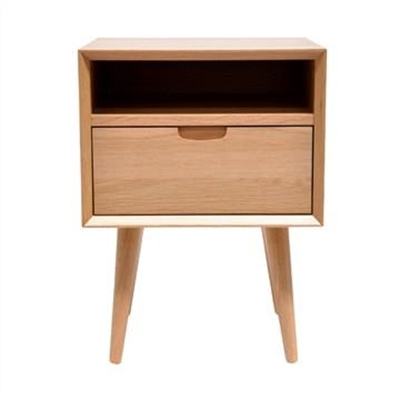 Resvol Wooden Square Bedside Table, Oak by Conception Living, a Bedside Tables for sale on Style Sourcebook