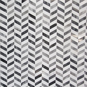 DL60231 Chevron Marble by Di Lorenzo Tiles, a Mosaic Tiles for sale on Style Sourcebook
