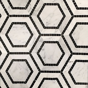 DLT84885 Hexagon by Di Lorenzo Tiles, a Mosaic Tiles for sale on Style Sourcebook