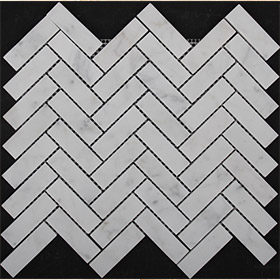 DL10191 herringbone mosaic by Di Lorenzo Tiles, a Mosaic Tiles for sale on Style Sourcebook