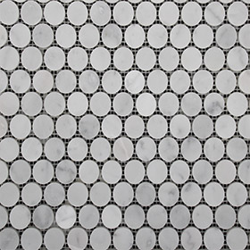 DL10139 Carrara penny round by Di Lorenzo Tiles, a Mosaic Tiles for sale on Style Sourcebook