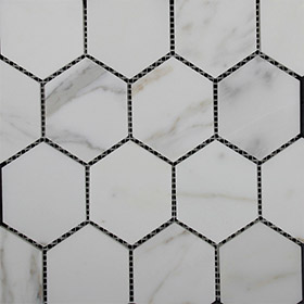 DLT80206 hexagon mosaic by Di Lorenzo Tiles, a Mosaic Tiles for sale on Style Sourcebook