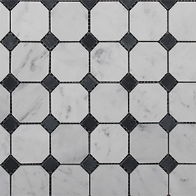 DL10127 octagon & dot by Di Lorenzo Tiles, a Mosaic Tiles for sale on Style Sourcebook
