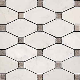 DLT21096 long octagon by Di Lorenzo Tiles, a Mosaic Tiles for sale on Style Sourcebook