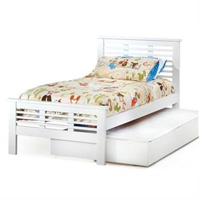 Nikki Solid New Zealand Pine Timber Single Bed with Trundle - White by LV Furniture, a Kids Beds & Bunks for sale on Style Sourcebook