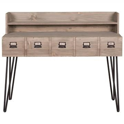 Crosby Reclaimed Pine Timber Writing Desk, 120cm by Millesime, a Desks for sale on Style Sourcebook