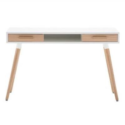 Myst Retro Wooden 2 Drawer Desk, 120cm