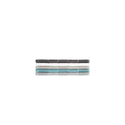 Velour Stripe Towel Cotton Charcoal Linen House