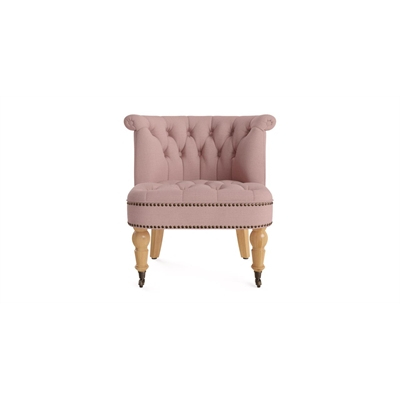 Helene Accent Chair Rose Tan Natural Solid Beech by Brosa, a Chairs for sale on Style Sourcebook