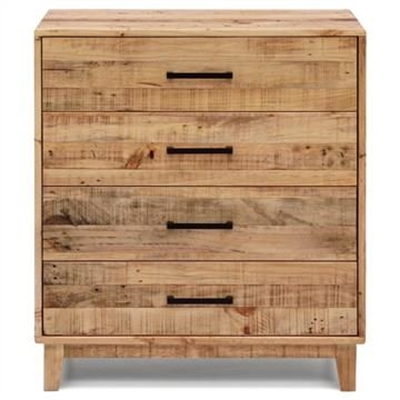 Portland Recycled Pine Timber 4 Drawer Tallboy
