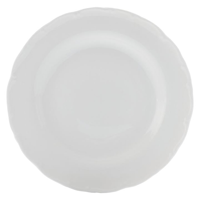 Casual White Florence Dinner Plate, 26cm Porcelain Casa Domani