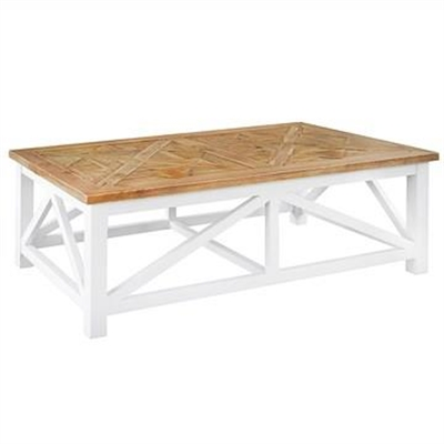 Elliot Solid Timber Parquetry Top 140cm Coffee Table