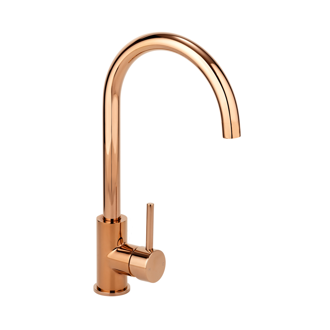 Kitchen or bathroom basin mixer Rose Gold