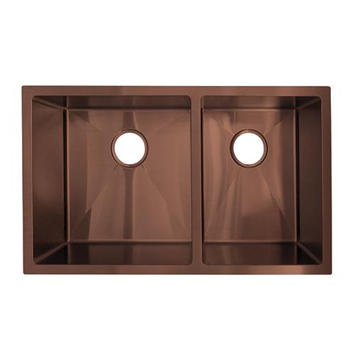Vita Double Kitchen Sink 760mm Copper