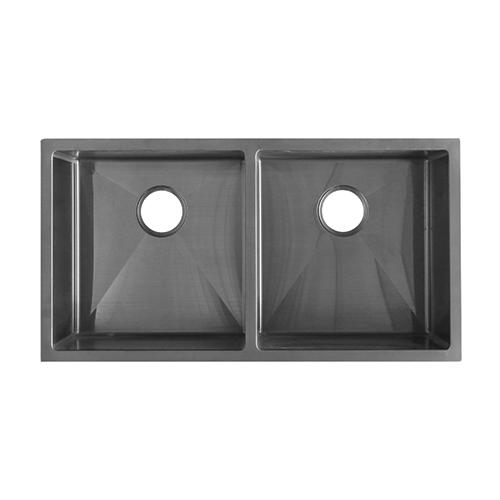 Double Kitchen Sink 855mm - Gunmetal