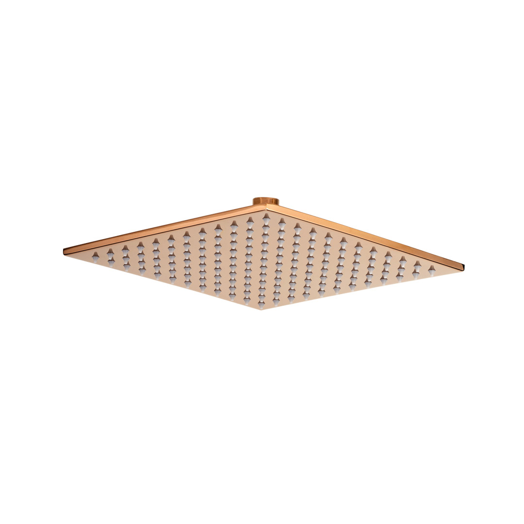 Bathroom Rain Shower Head Square  Rose Gold 250mm
