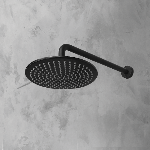 Bathroom rain shower Head Round  Black 250mm by Just in Place, a Shower Heads & Mixers for sale on Style Sourcebook