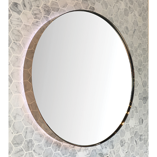 Double Trim LED Mirror Deep Rose Gold