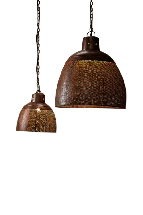 Copper Perforated Pendant Light - small by Just in Place, a Pendant Lighting for sale on Style Sourcebook