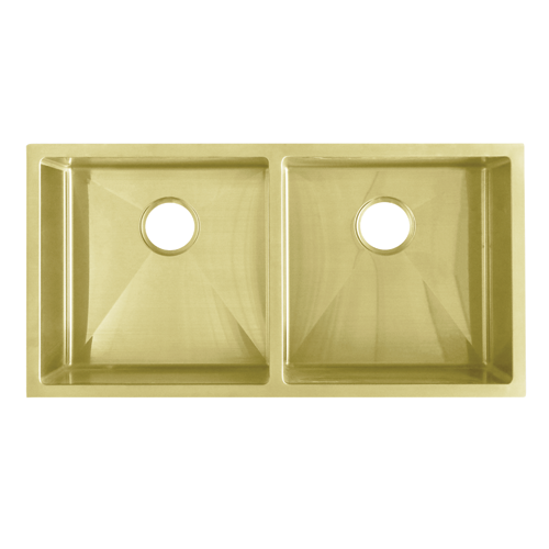 Zalo Double Kitchen Sink 855mm -  Brass by Just in Place, a Towel Rails for sale on Style Sourcebook