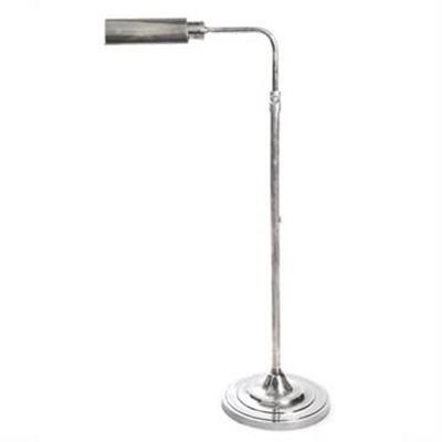 Brooklyn Adjustable Metal Floor Lamp - Antique Silver
