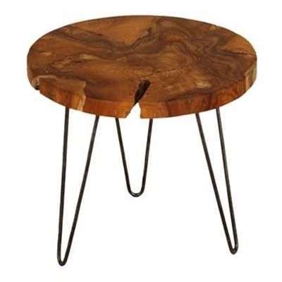 Teak Root Timber & Iron Lamp Table by Centrum Furniture, a Side Table for sale on Style Sourcebook