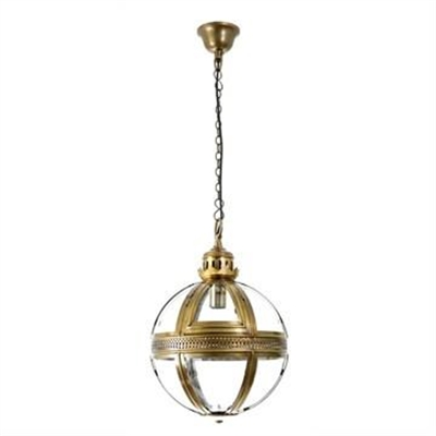 Saxon Small Metal & Glass Pendant Light - Brass by Emac & Lawton, a Pendant Lighting for sale on Style Sourcebook
