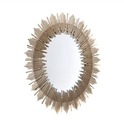 Franklin Iron Framed Wall Mirror, 103cm, Antique Gold by Cozy Lighting & Living, a Mirrors for sale on Style Sourcebook