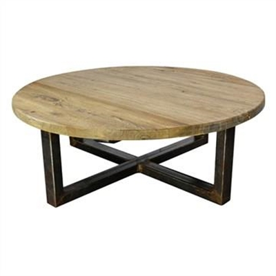 Aramis Reclaimed Elm Timber 100cm Round Coffee Table by Conception Living, a Coffee Table for sale on Style Sourcebook
