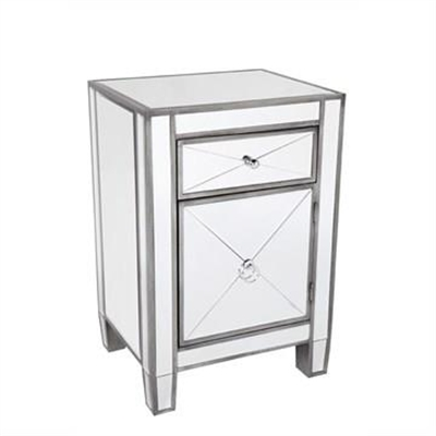 Apolo Mirrored Bedside Table, Antique Silver by Cozy Lighting & Living, a Bedside Tables for sale on Style Sourcebook