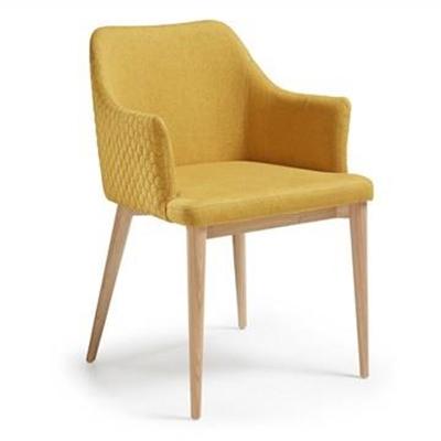Danya Fabric Dining Armchair, Mustard