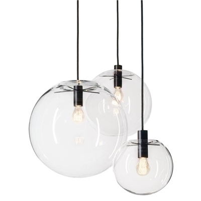 Doris Hand Blown Glass Globe Pendant Light - Large by Laputa Lighting, a Pendant Lighting for sale on Style Sourcebook
