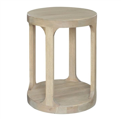 Frans Oak Timber Round Side Table, Weathered Oak by Manoir Chene, a Side Table for sale on Style Sourcebook