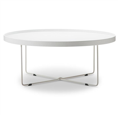 Annabel 90cm Round Coffee Table - White by FLH, a Coffee Table for sale on Style Sourcebook