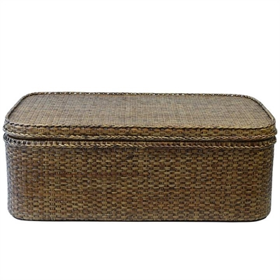 Savannah Rattan 120cm Storage Coffee Table, Tobacco by COJO Home, a Coffee Table for sale on Style Sourcebook