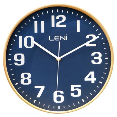 Leni Wooden Wall Clock, 28cm, Navy by Boutica, a Clocks for sale on Style Sourcebook